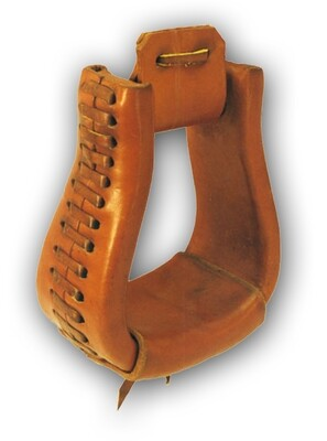 Leather Covered Visalia Overshoe Stirrups