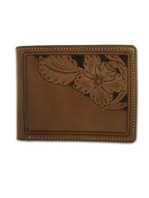 Corner Carved Billfold Wallet