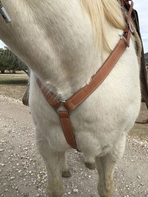 Rough Out Narrow Three Ring Breast Collar