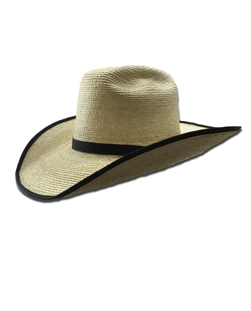 Palm Leaf Cutter Hat with Bound Edge Brim