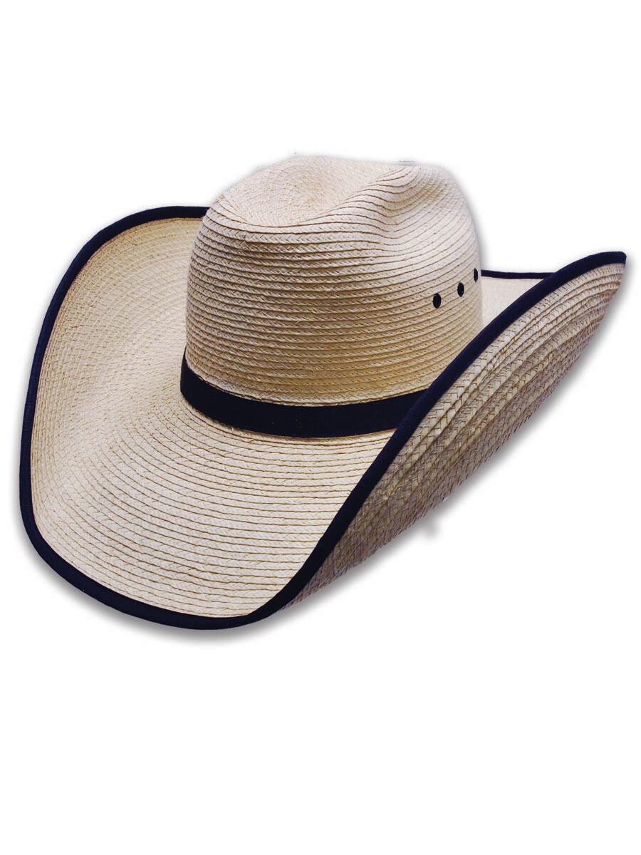 Palm Leaf Panhandle Hat with Bound Edge Brim
