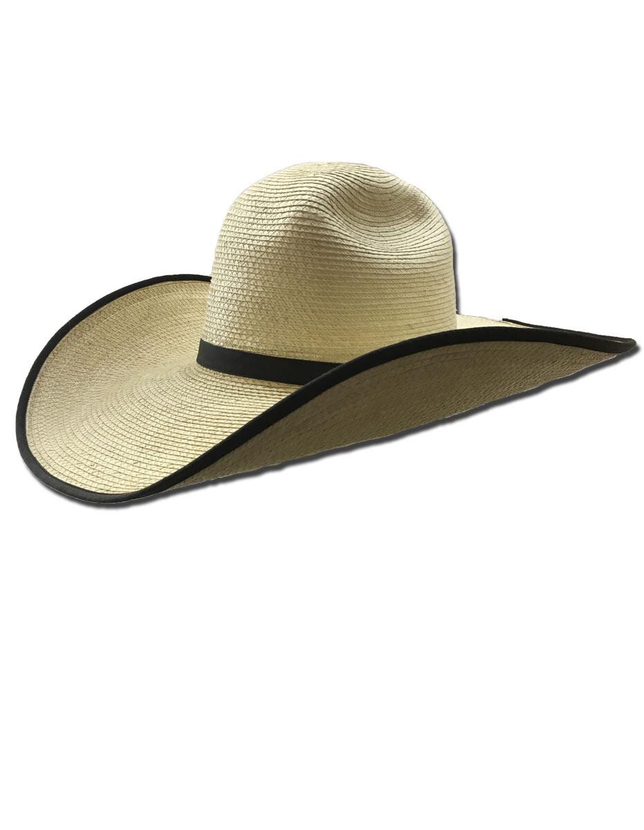 Palm Leaf Puncher Hat with Bound Edge Brim
