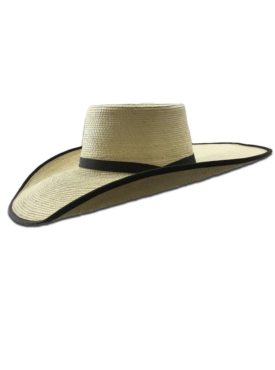 Palm Leaf Vaquero Hat with Bound Edge Brim