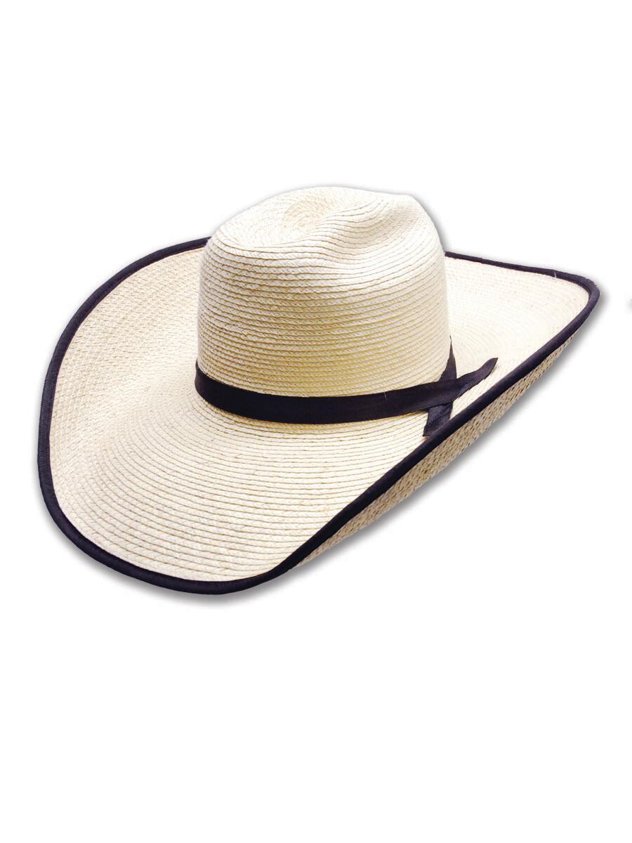 Palm Leaf West Texas Hat with Bound Edge Brim