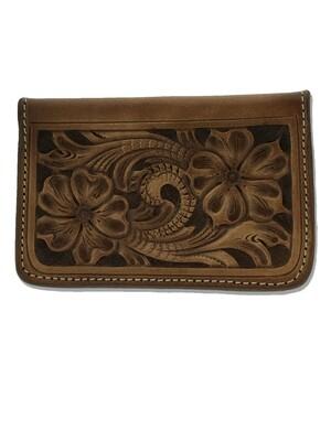Floral Carve Credit Card Holder