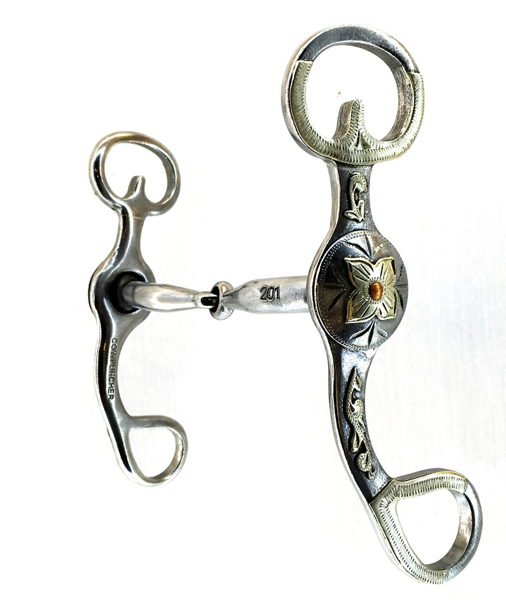 Snaffle Shank with Floral CP201