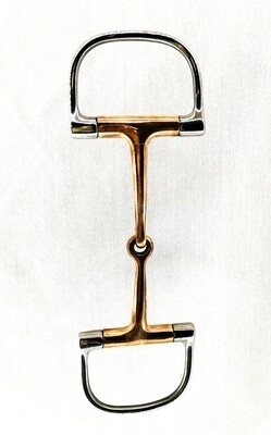 Racer D Bit with Copper Snaffle