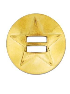 Brass Slotted Star Concho
