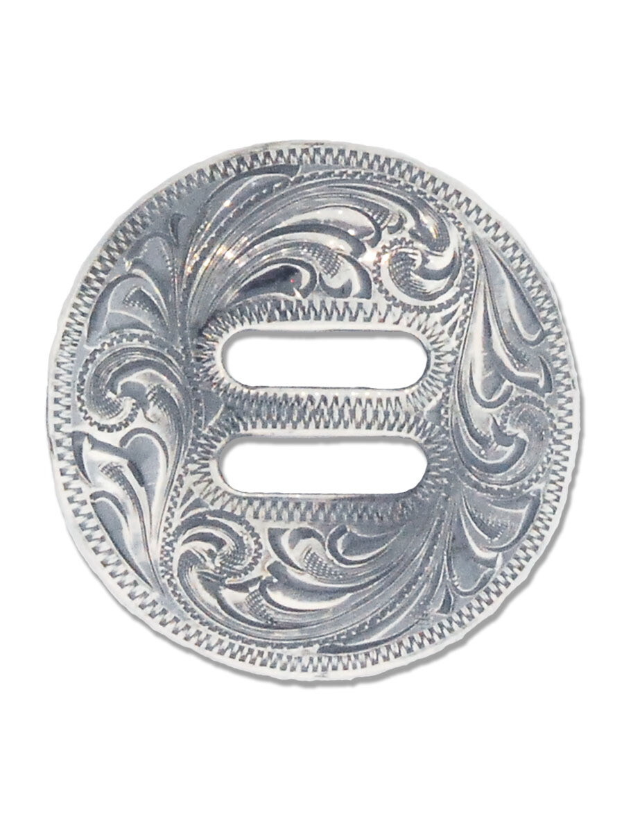 BBS Sterling Silver Engraved Concho