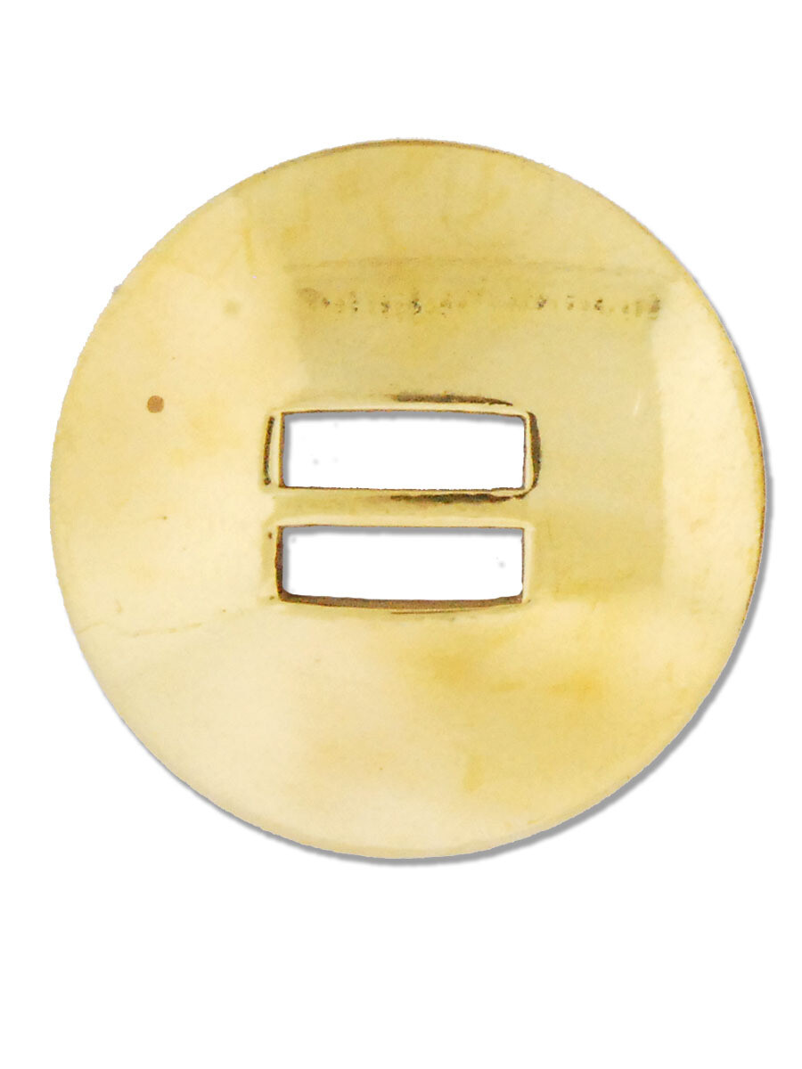 Brass Slotted  Concho