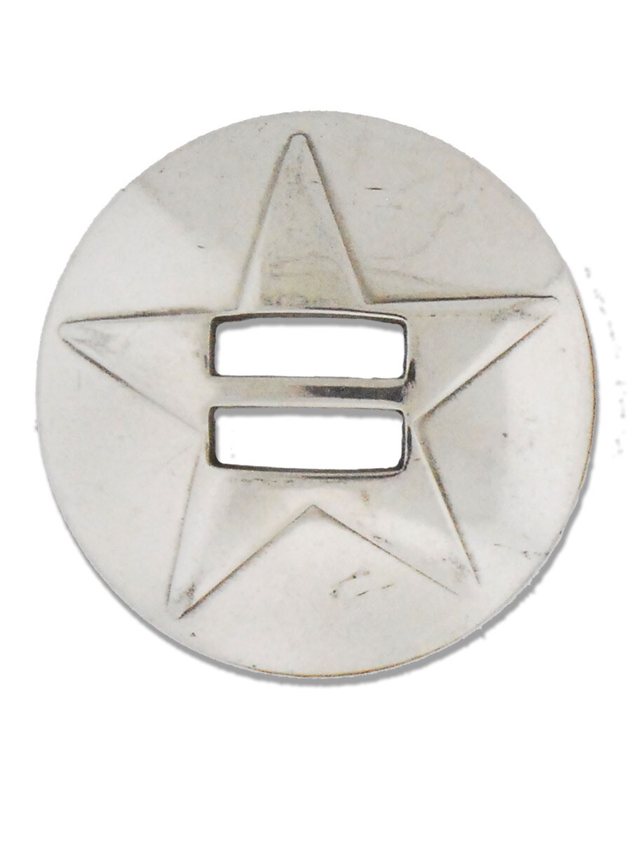 Stainless steel Slotted Star Concho