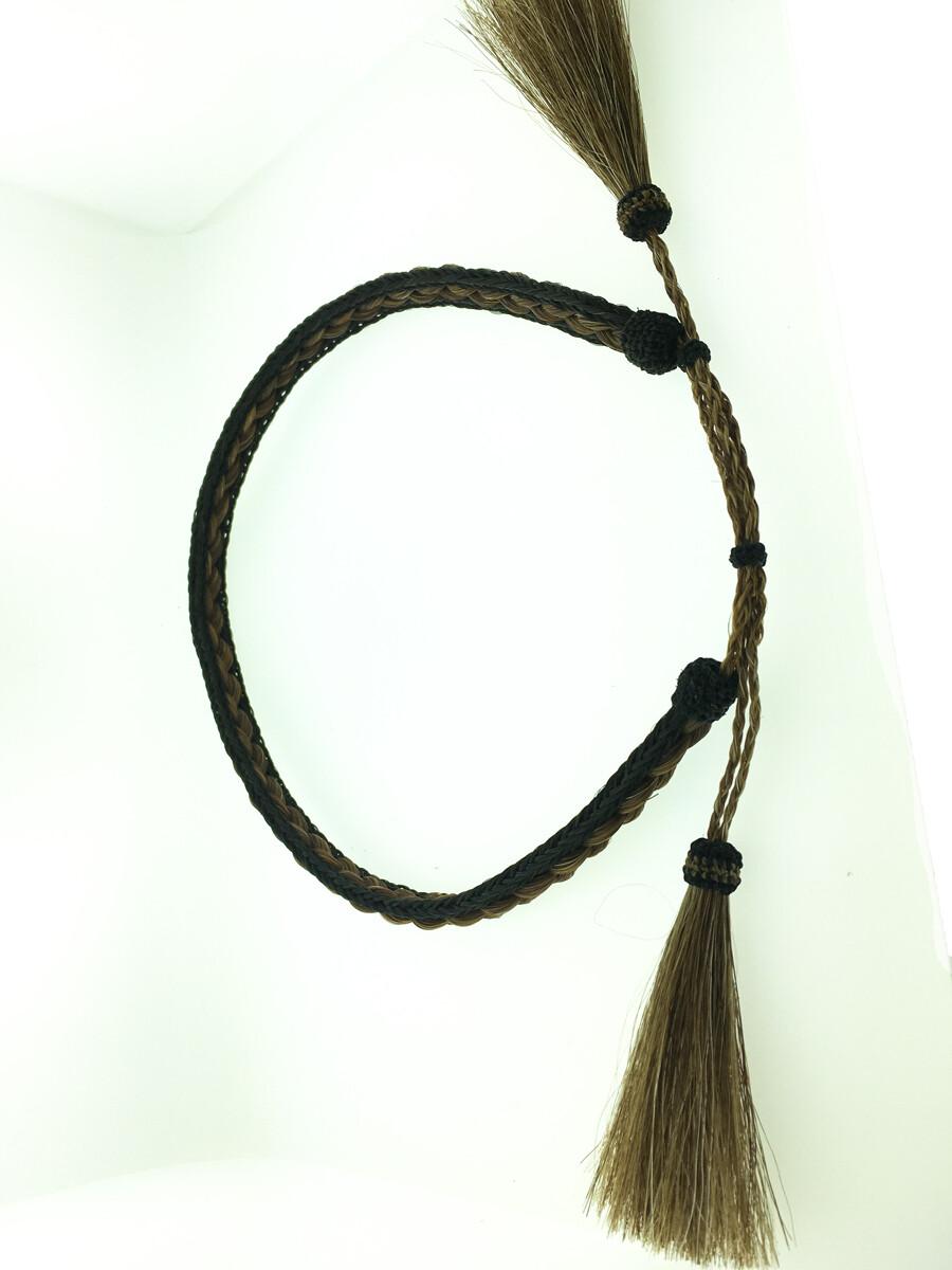 3 Strand Hatband brown & black #9 HB82A
