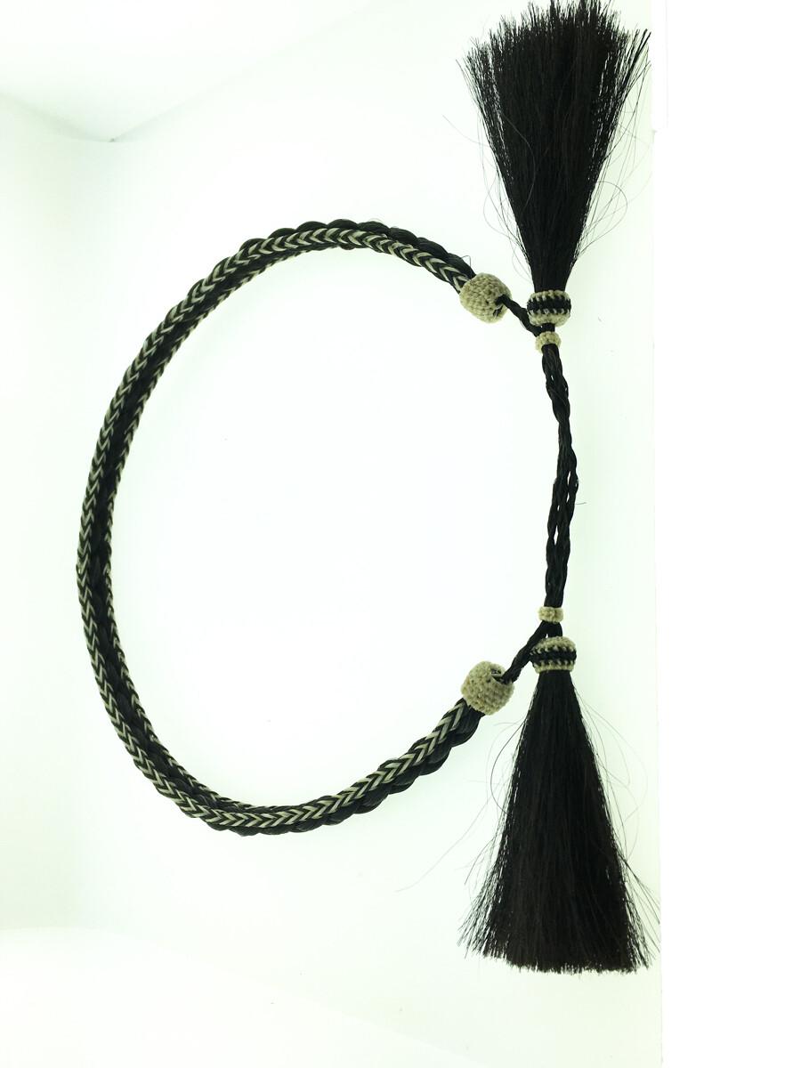 3 Strand Hatband black & white #5 HB82A