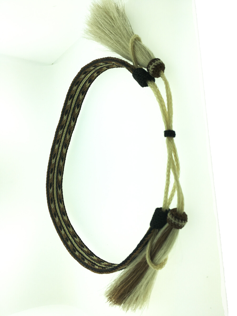 7 Strand Hatband brown, black, & white #5 HH07