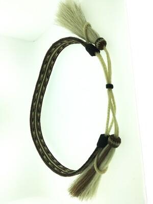 7 Strand Hatband brown, black, & white #5 HH07