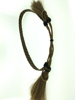 Flat Braid Hatband brown & black #3 HH09