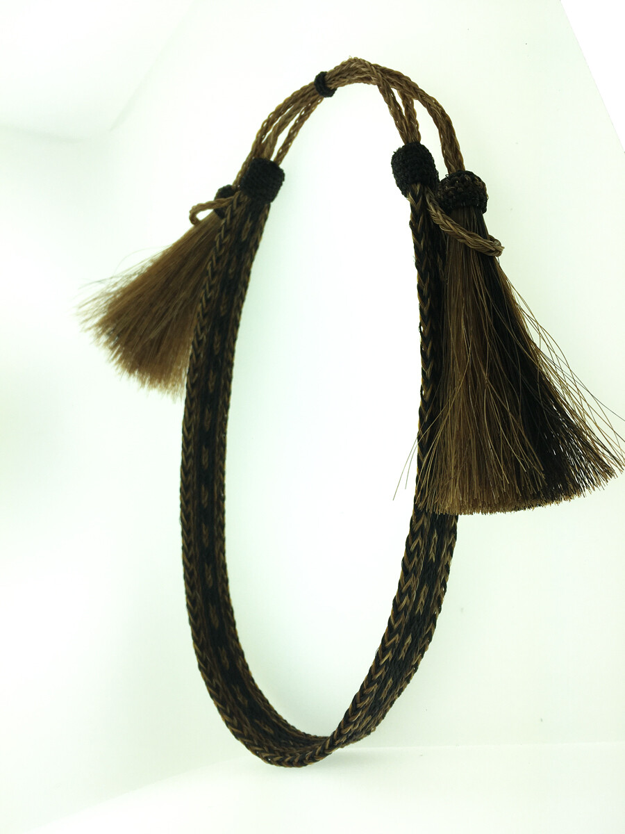 7 Strand Hatband black & brown #7 HH07