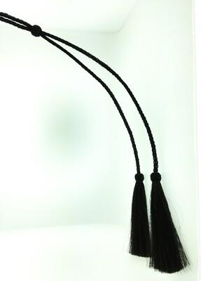 Black w/Black Knots Horsehair Stampede Strings