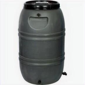 50 Gallon Grey Rain Barrel