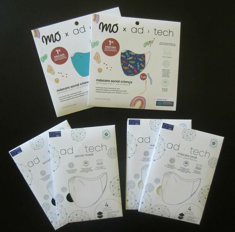 FAMILY PACK - 6 Masken zum Sonderpreis und versandkostenfrei - 4 x Erwachsene, 2 x Kinder - Niveau 2 - professioneller Gebrauch - OEKO-TEX ® STANDARD 100