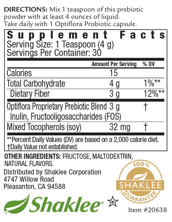 Optiflora Powder Label