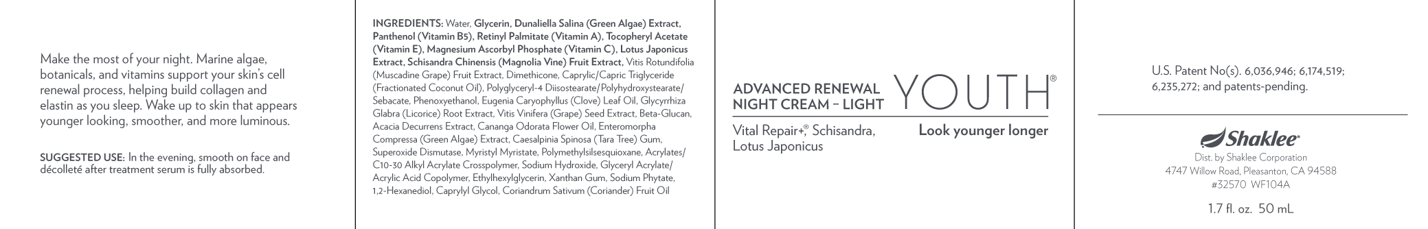 YOUTH Advance Renewal Night Cream-Light (32570)