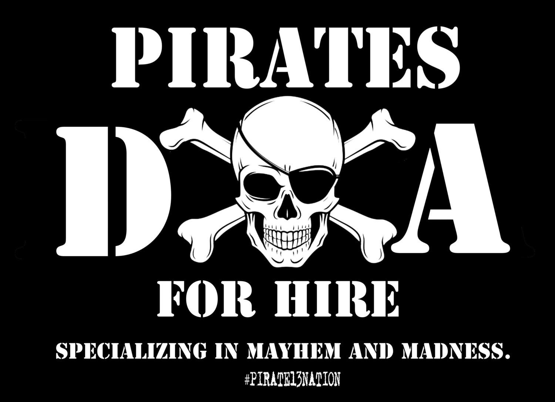 DOA: Pirates For Hire Vinyl Sticker.