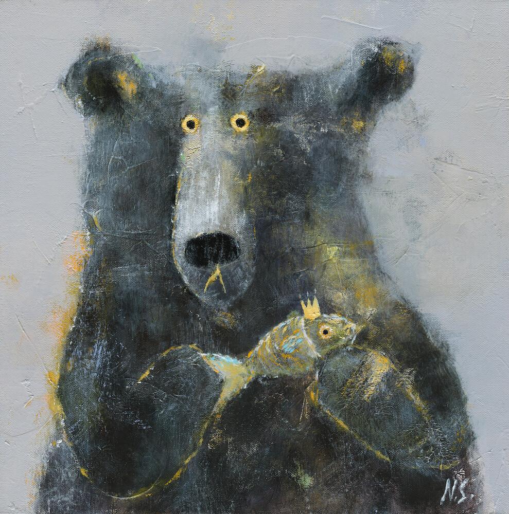 Bear with the Goldfish – Original