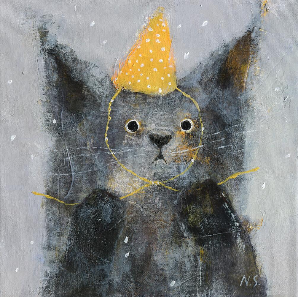Cat in a Yellow Hat – Original