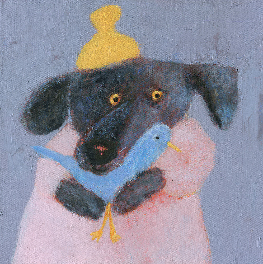 Dog in a Yellow Hat – Original