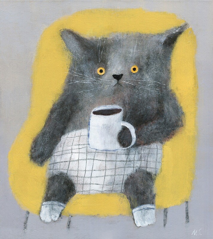 Cat in the Yellow Chair