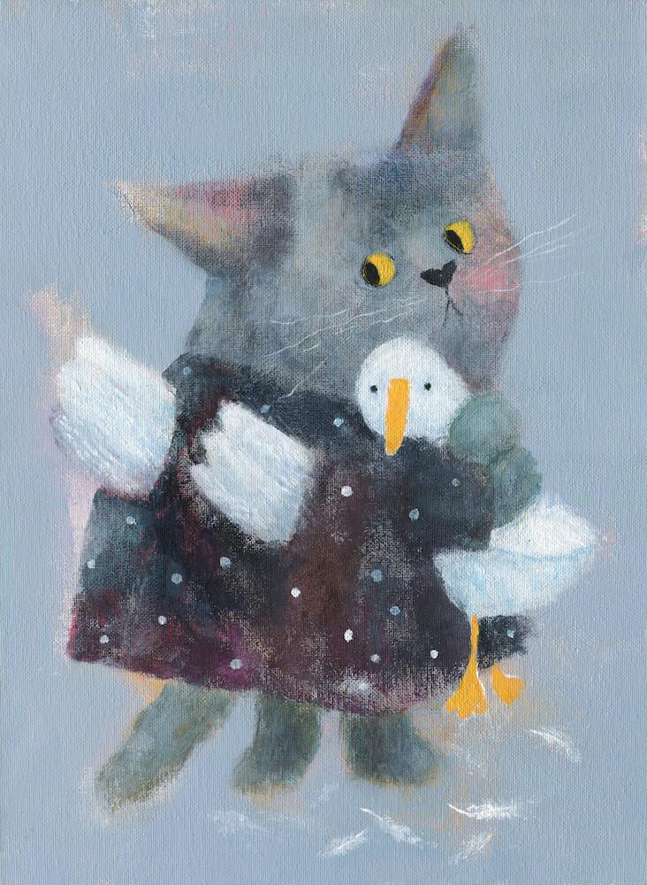 Angel Cat in the Dress – Original