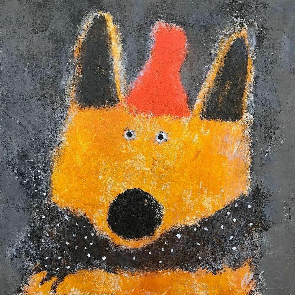 Fox in a Scarf – Original