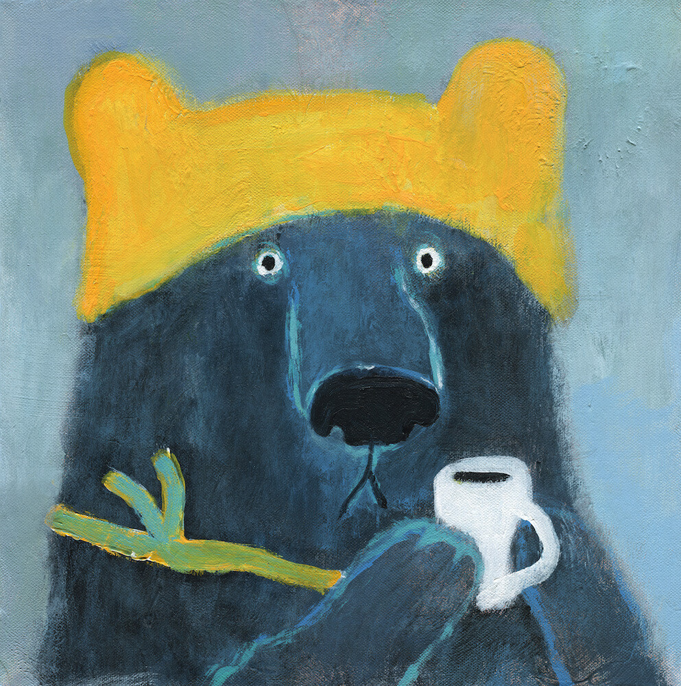 Bear in a Yellow Hat – Original