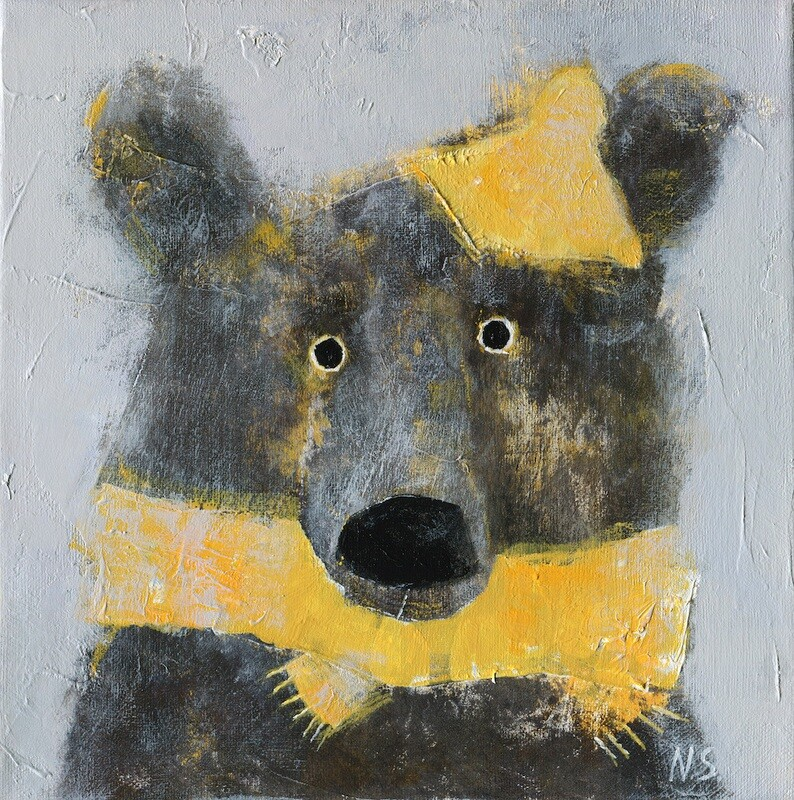 Bear in a Yellow Scarf