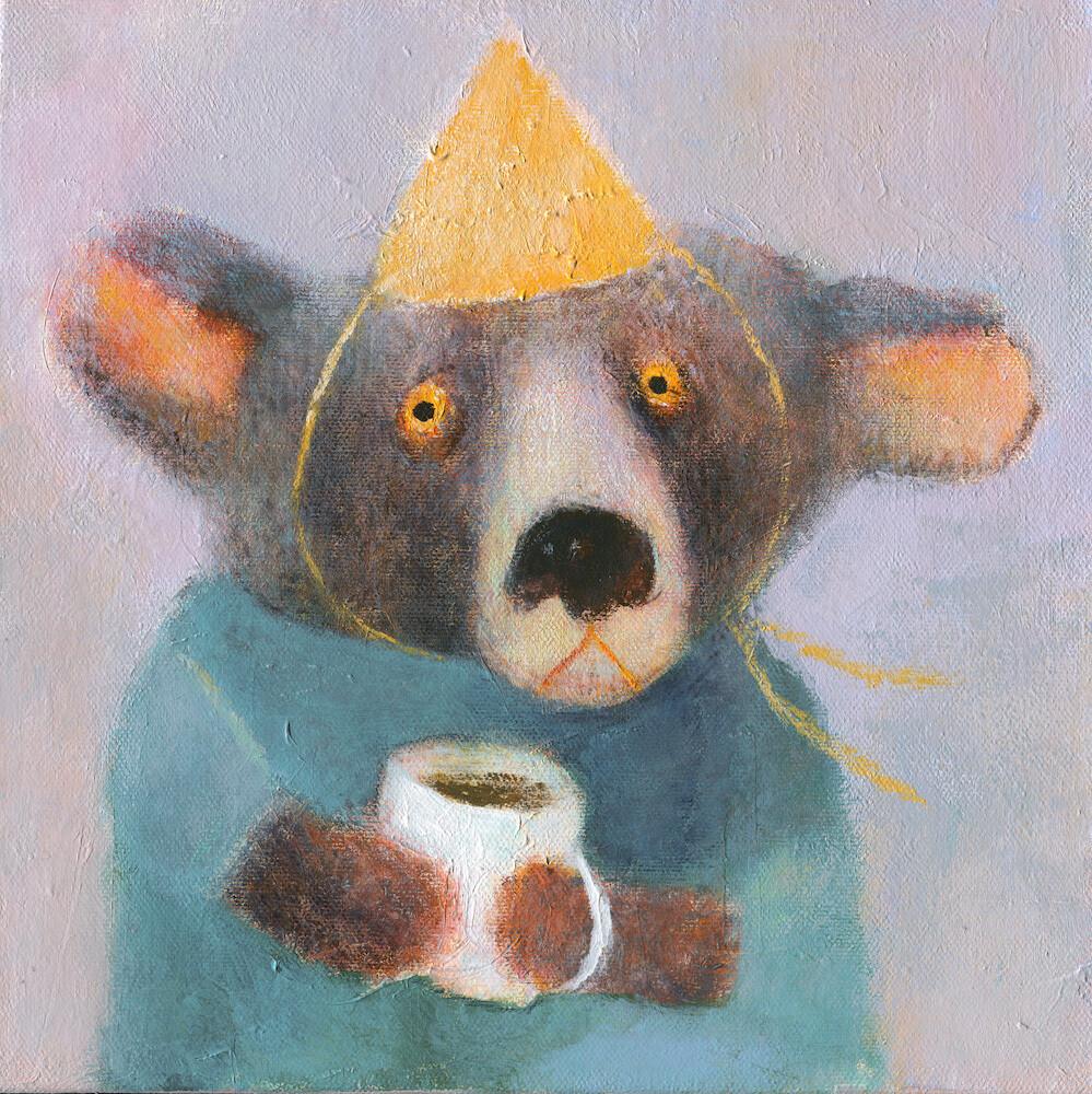 Bear with a Coffee – Original