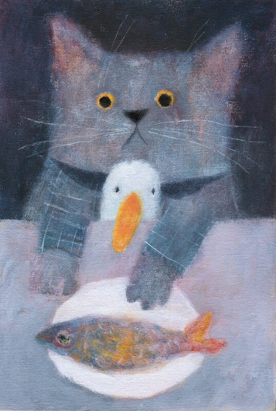 Cat, Duck and a Fish