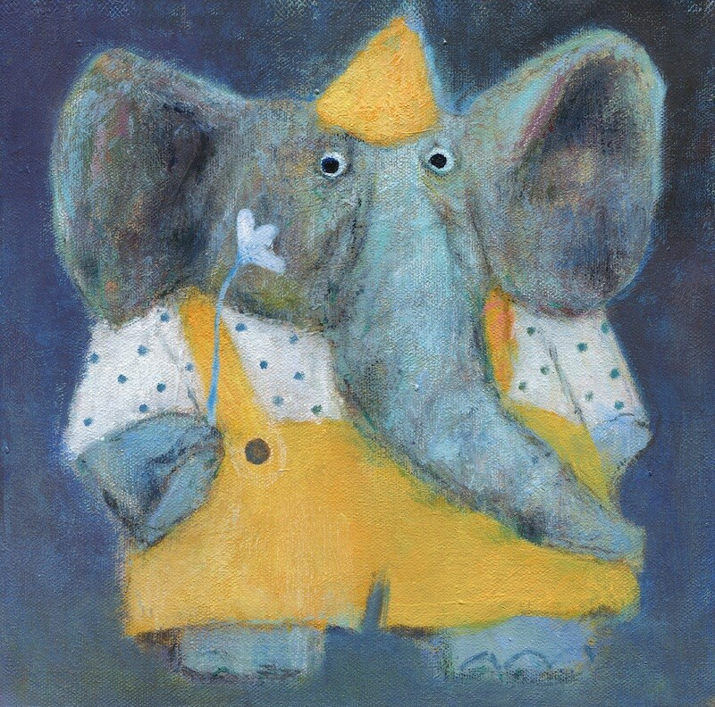 Elephant in a Party Hat