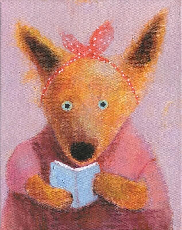 Fox with a Book – Original
