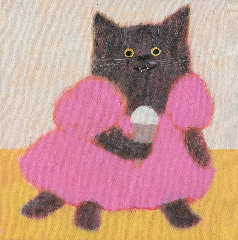 The Cat in the Pink Dress