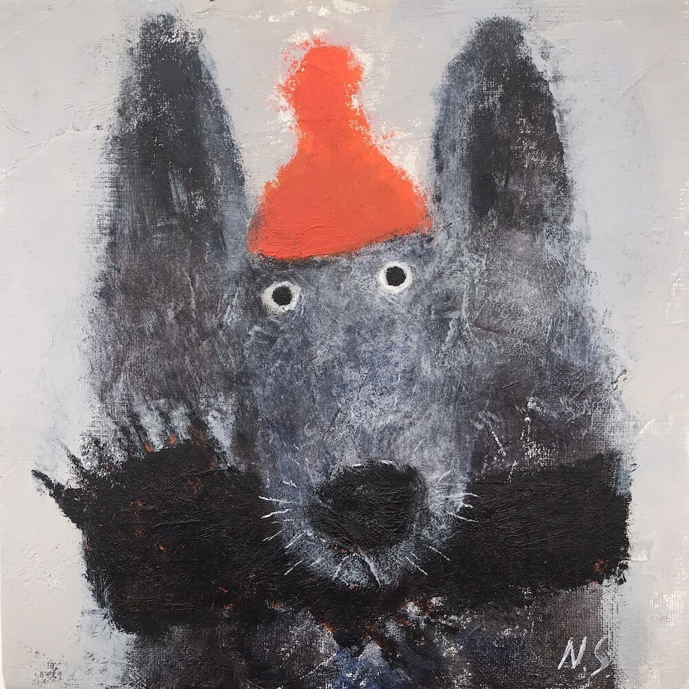 Wolf in a Little Hat – Original