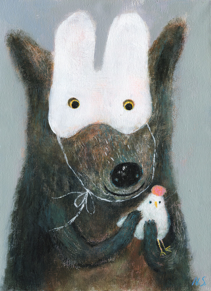 Wolf with a Duck – Original