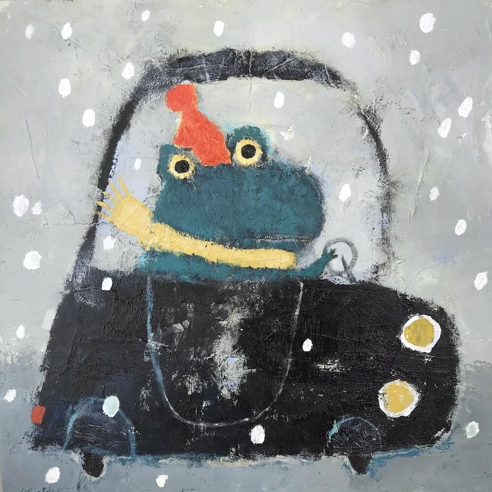 Frog in the Car – Original