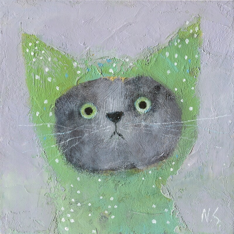 Cat in the Green Hood