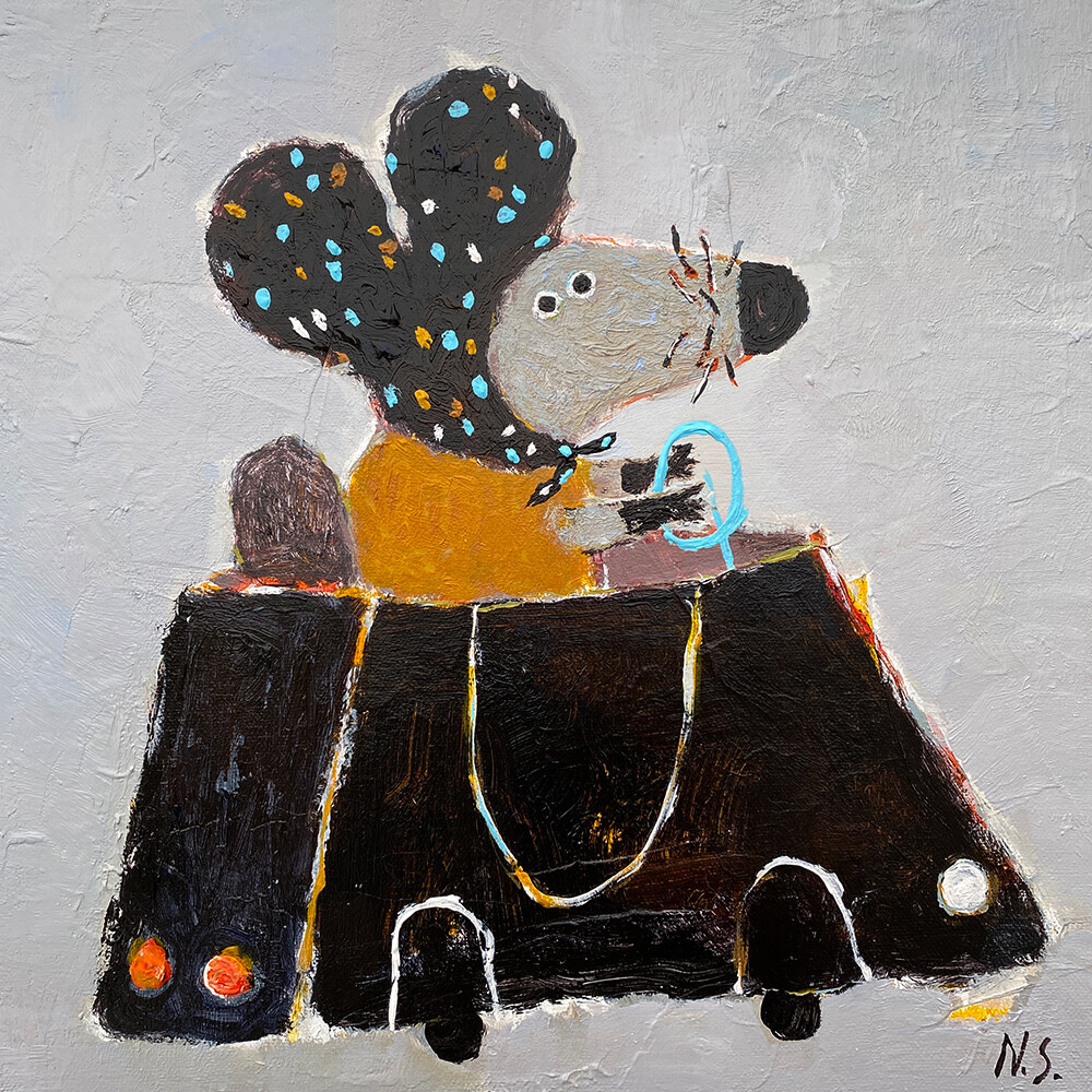 Little Mouse in the Car – Original