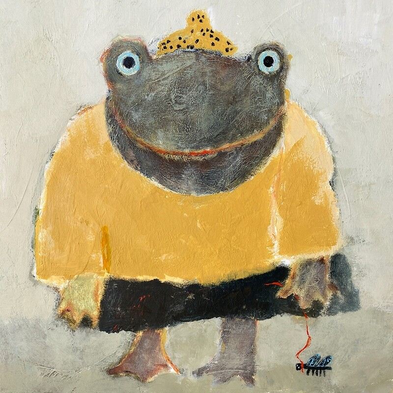 Frog and her Fly Pet – Original