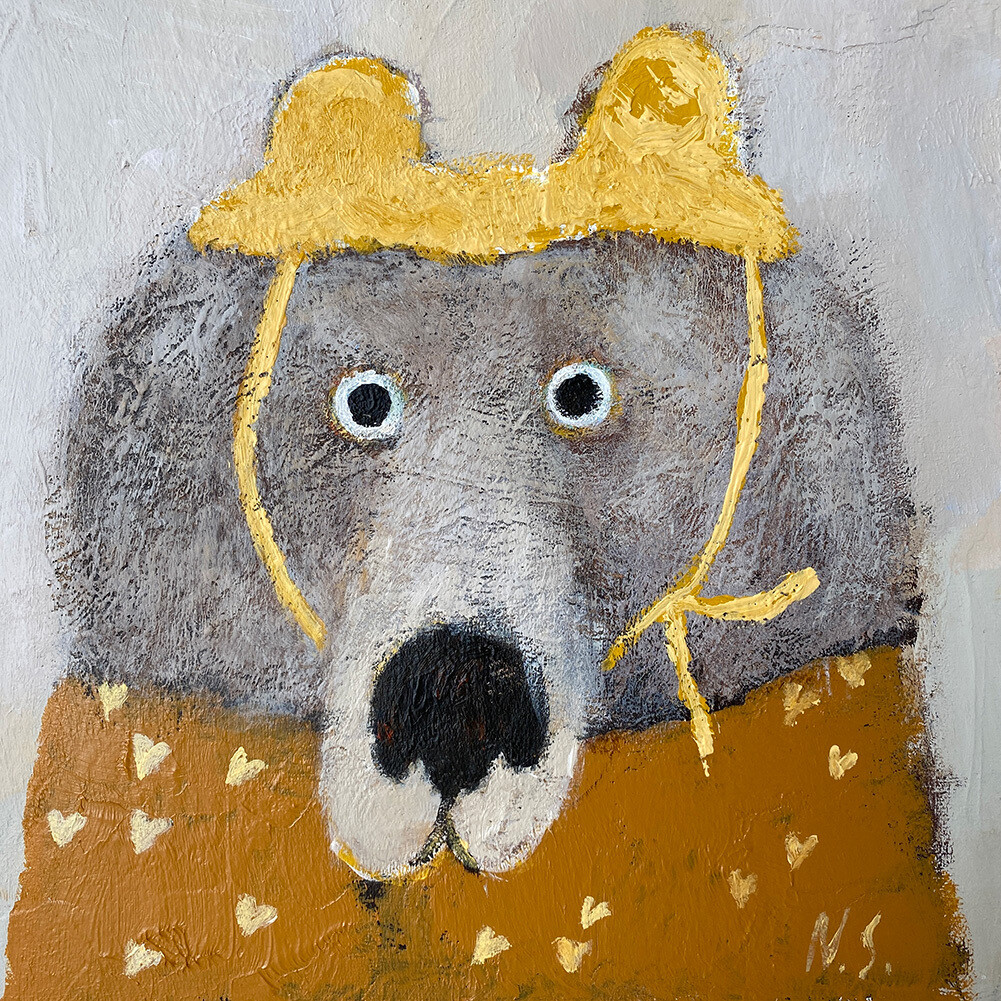 Spring Bear in the Yellow Hat – Original