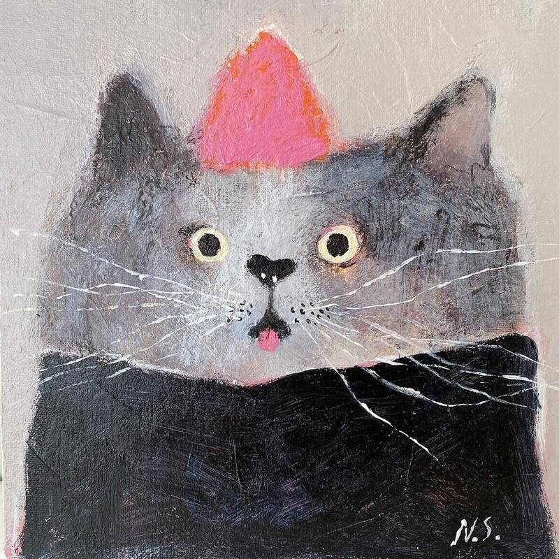 Pink Hat Cat – Original