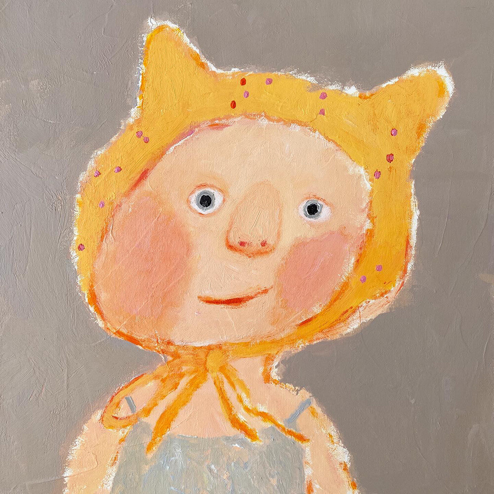 Little Friend in Yellow Hat – Original