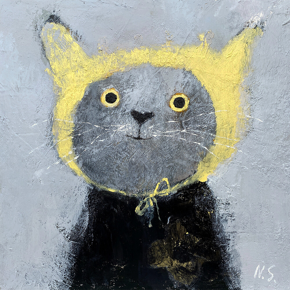 Happy Cat in the Hood – Original